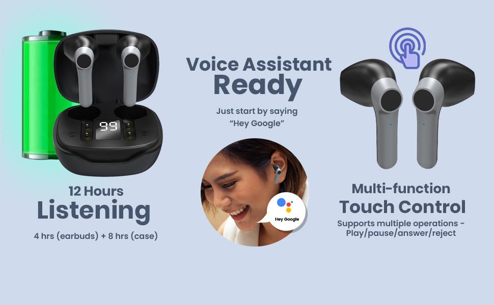 Basspods 281 wireless headphones