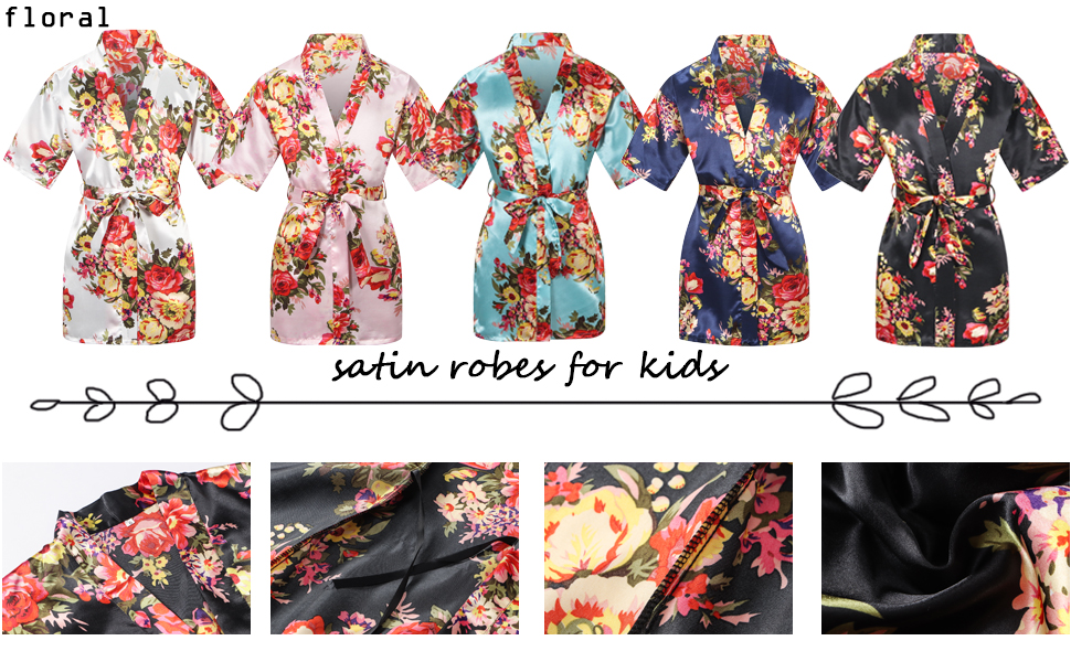 floral robes for girls