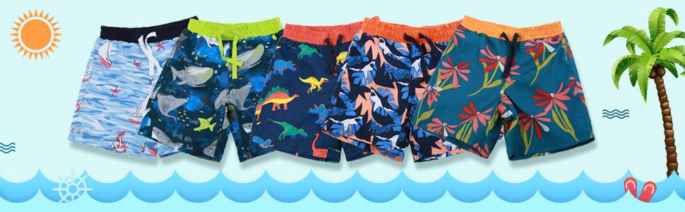 various printings of these little boys amp; big boys swim short pants