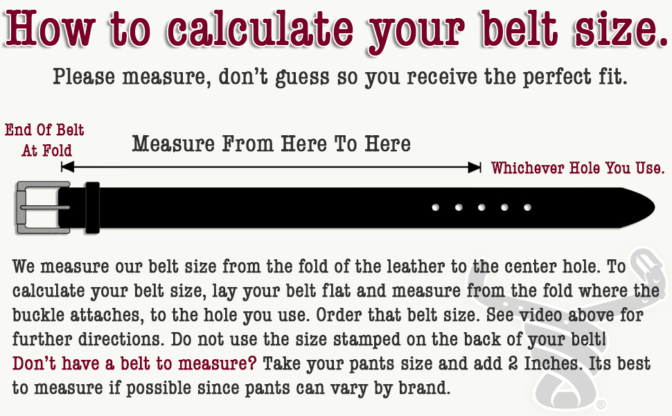 Calculate your belt size