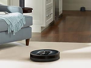 De roomba 981 werkt gemakkelijk samen met Alexa of Google home