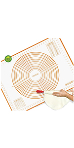silicone baking mat pastry mats dough mat rolling mat fondant mat non stick cooking mat silicone