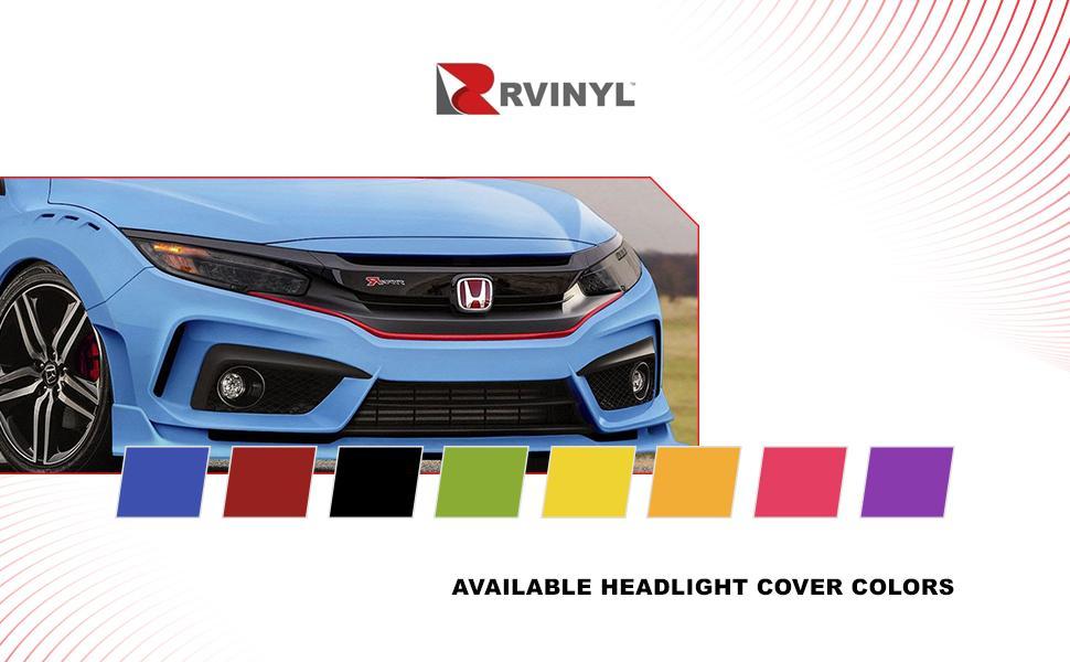 Rvinyl headlight tint cover colors