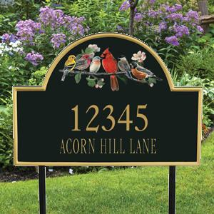 Songbird Personalized Address Plaques