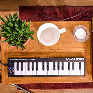 M-Audio Keystation Mini 32 MK3 | Ultra-Portable Mini USB MIDI Keyboard Controller