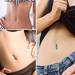 Belly Button Rings Piercing Jewelry for Women