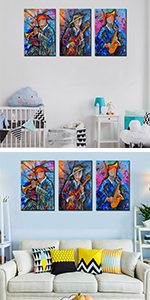abstract acrylic artistic cityscape  cubism cubist piano musician music modern guitar
