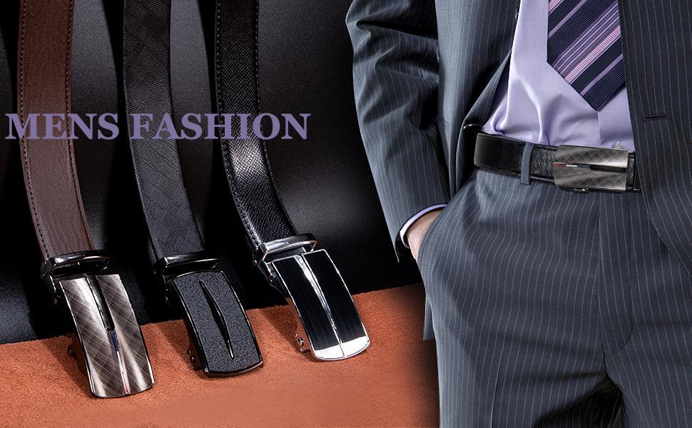 mens batman belt sliding buckle ratchet leather father day gift big tall mens belt click replacement