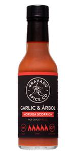 garlic arbol moruga scorpion hot ones