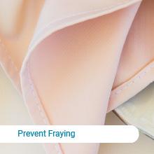 Prevent fraying, folded-over edges