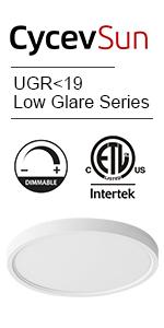 UGRlt;19 led ceiling light
