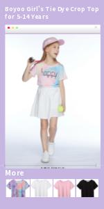 Boyoo Girls Tie Dye Crop Top for 5-14 Years