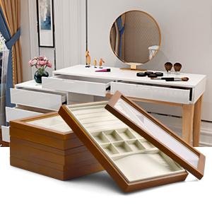 wood jewelry organizer box