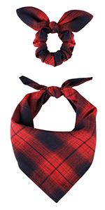dog bandanas red and black