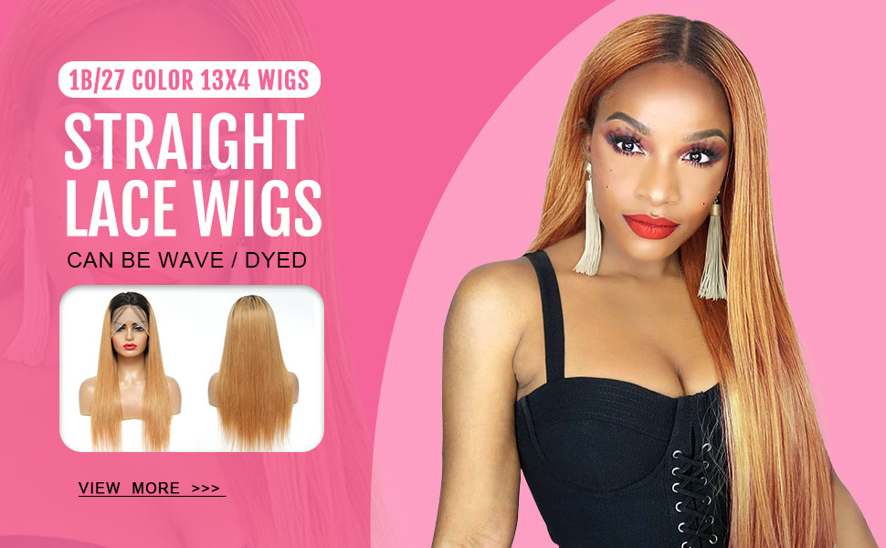 Ombre lace front wig human hair