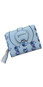 Blue cat wallet