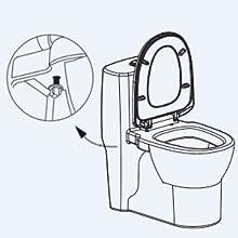 bidet toilet seat warm water