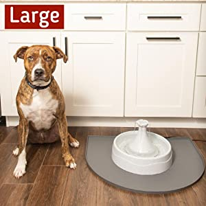 Large Fountain Mat for large dogs and multiple dogs with pet fountain