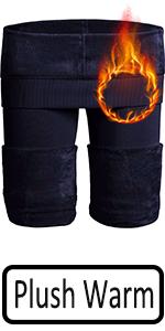 Navy blue warm leggings women