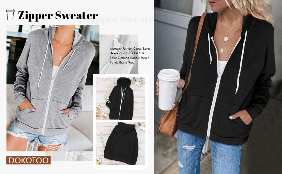 zip up hoodie women