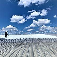 spraying metal roof