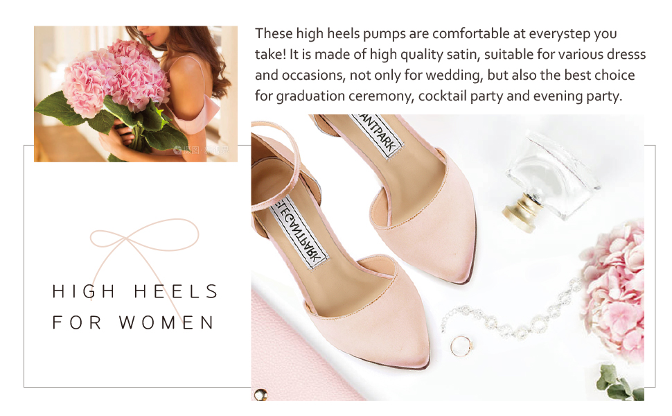Wedding Shoes For Bride High Heels for women pink pumps dress evening party shoes
