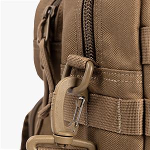 Closeup Showing YKK Zippers and Tactical-Grade Hardware