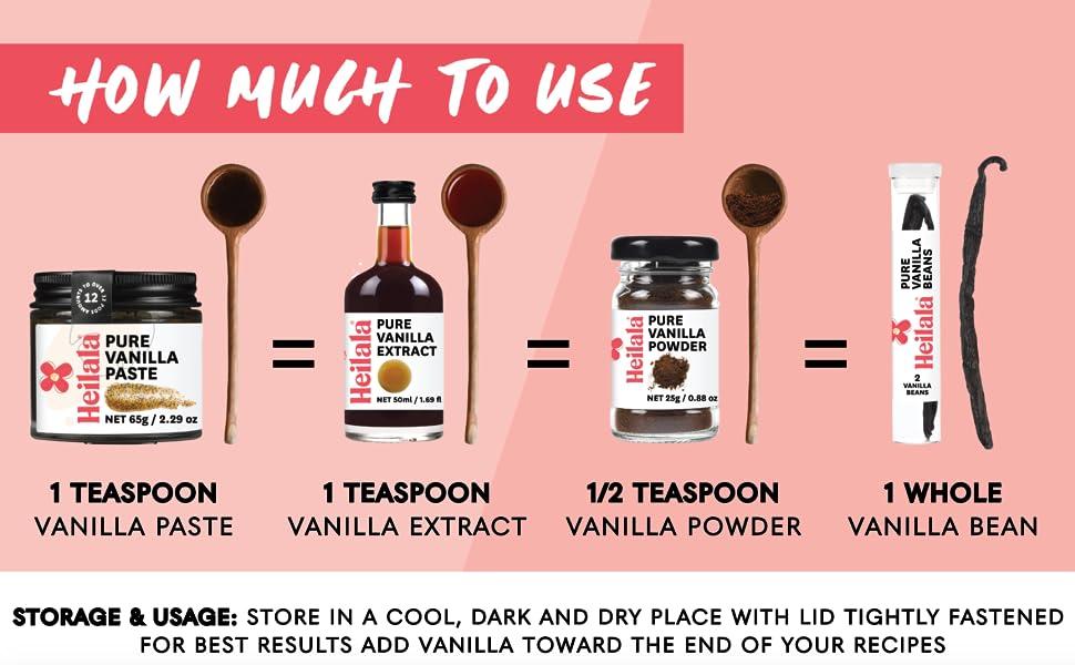 How much Vanilla to use pure bourbon variety vanilla bean pods