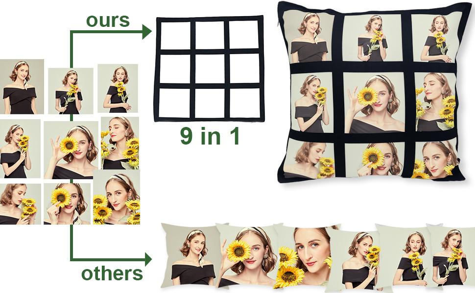 DIY panel pillow case cover
