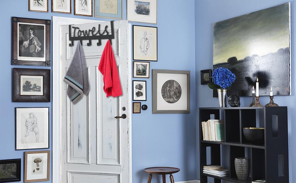 door towel holder