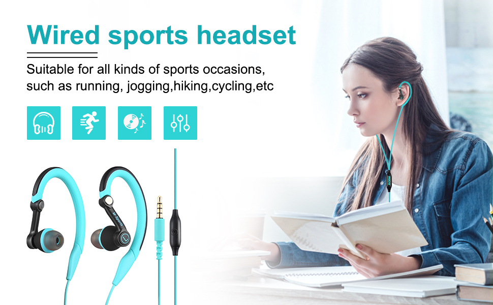 wired sports headset