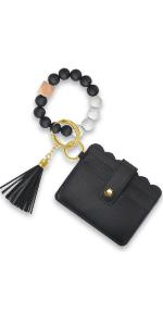 key ring bracelet keychain bracelet wristlet wallet for women