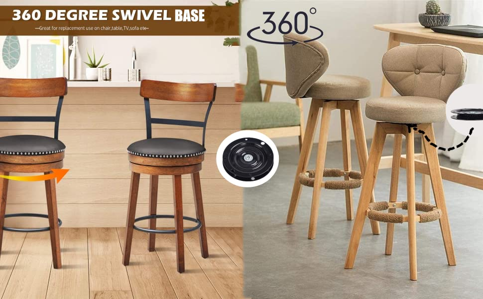 360 swivel base Great for replacement use on many stools, such as chair dining,table,TV,sofa etc