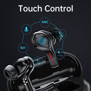 Touch Controls Bluetooth headphones