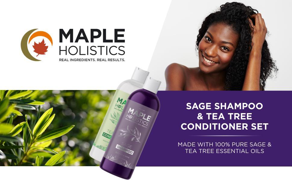 Sage Shampoo & Tea Tree Conditioner Set For Dry Scalp