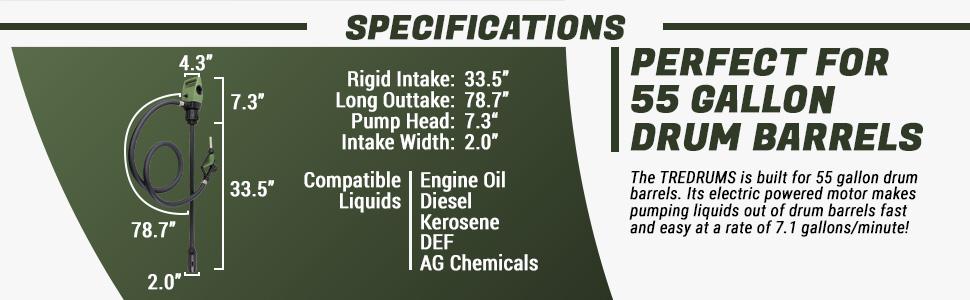 tera pump tredrums specification