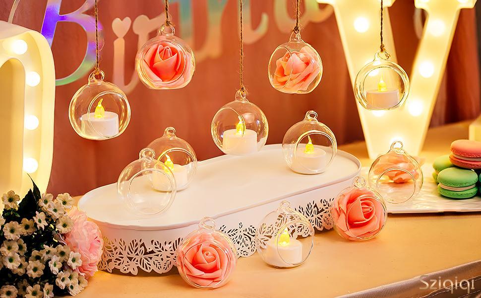 candle holder hanging decor