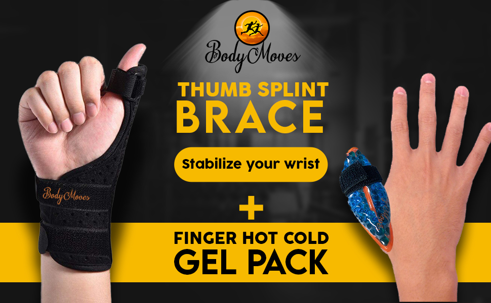 BodyMoves Thumb splint plus hot and cold pack