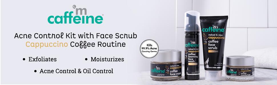 mCaffeine Acne Control Kit with Face Scrub - Cappuccino Coffee Routine