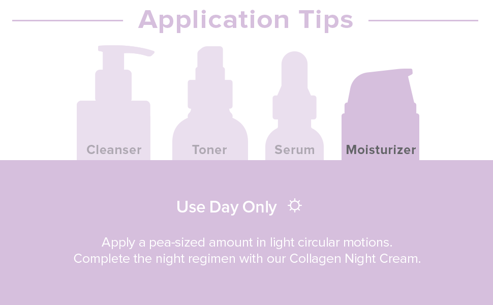 application tips, moisturizer