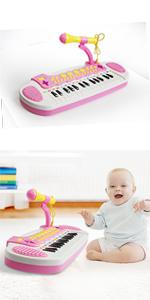 piano keyboard toys for girls pink 31 keys