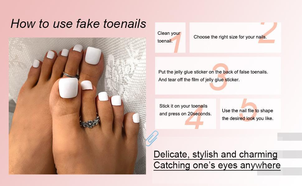 How to use false nails