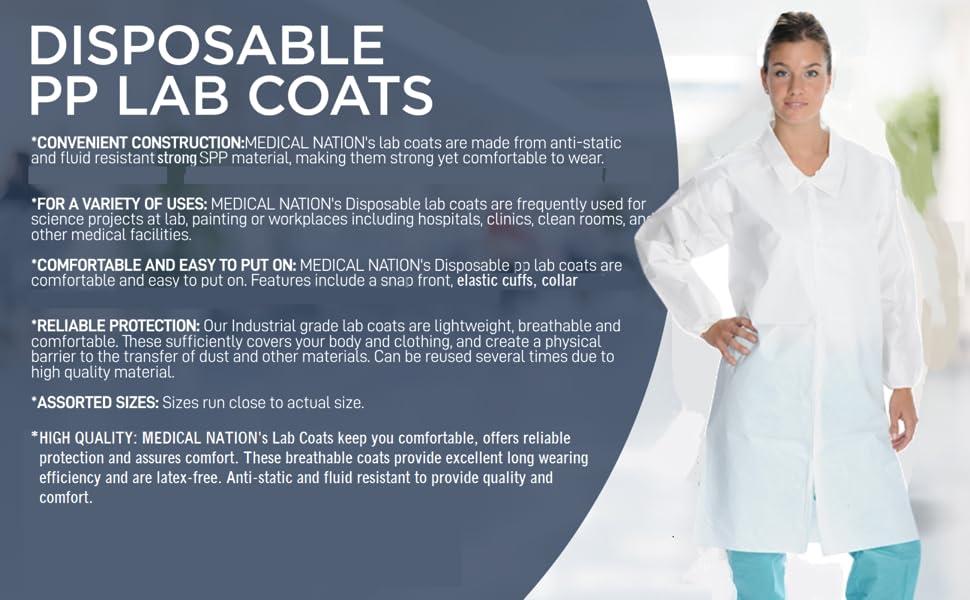White Lab Coats Product Description