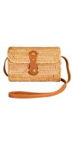 Clutch Wallet Straw Bag