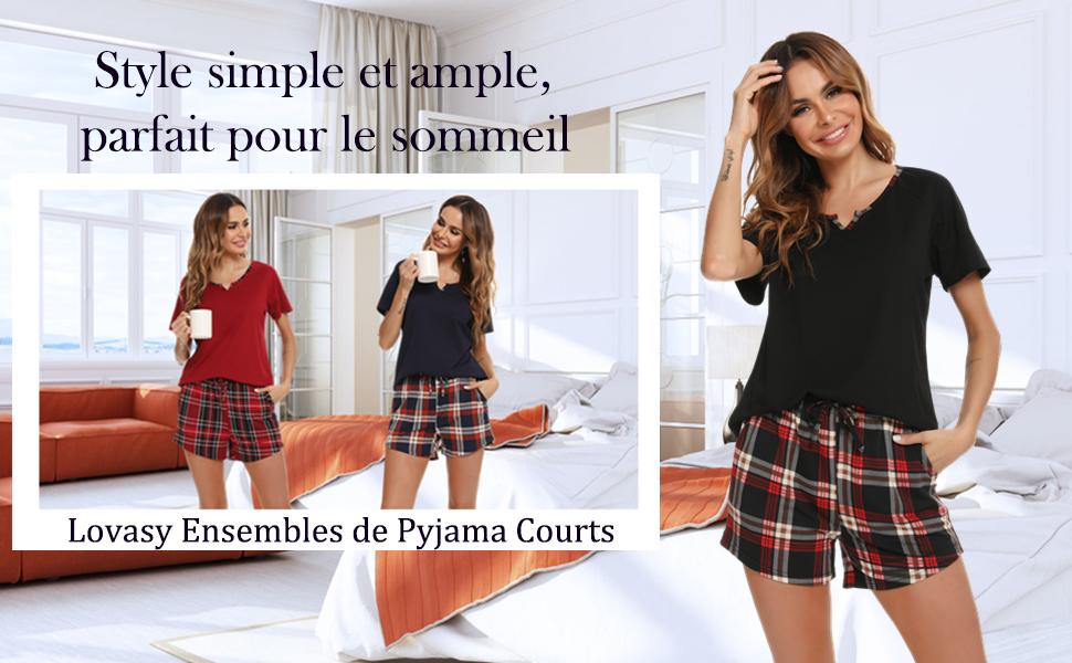 Lovasy Ensemble de Pyjama Pour Femmes