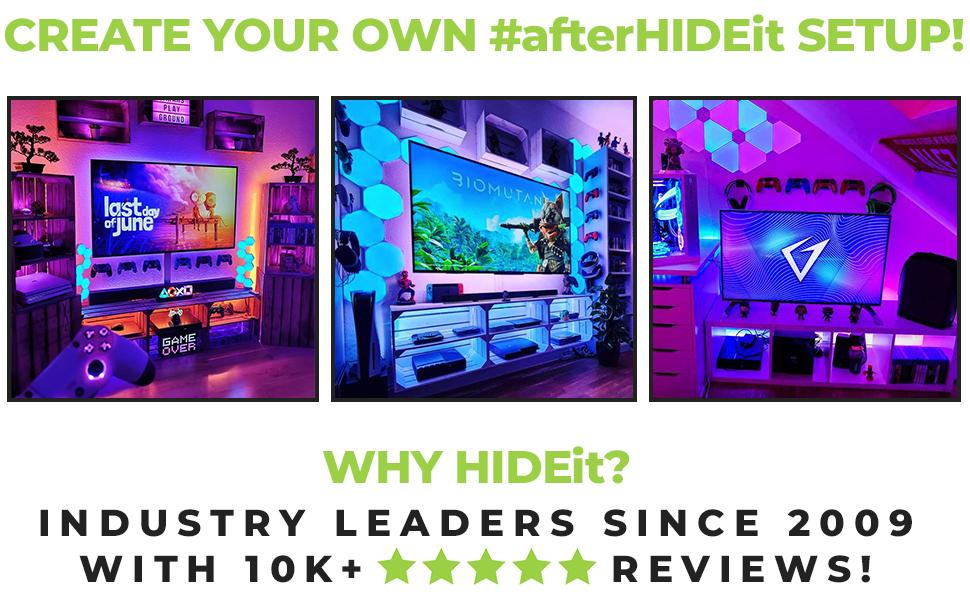 #afterHIDEit Customer setups with the HIDEit PlayStation Controller Wall Mount