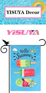 YISUYA popsicles summer garden flag