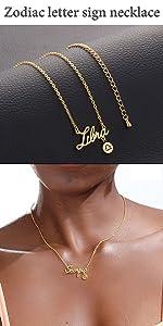 Libra letter necklace