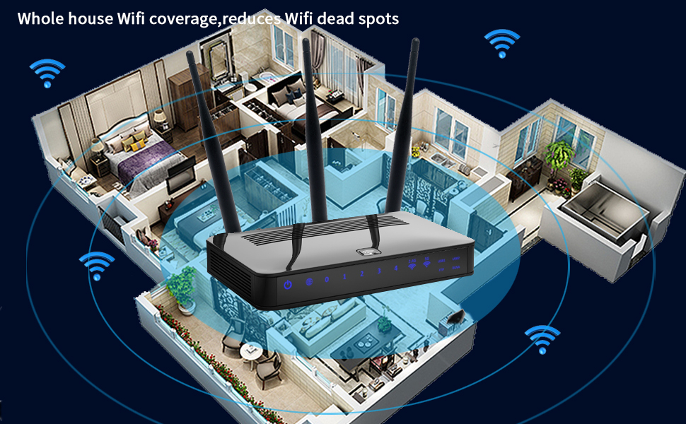 whole house signal coverage,reduce wifi dead spots