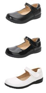 Little Big Girls Performance School Uniform Dress Mary Jane Flats Shoes